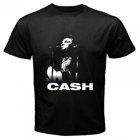 New JOHNY CASH Blues Rock Folk Singer Men's Black T-Shirt Size S M L XL 2XL 3XL