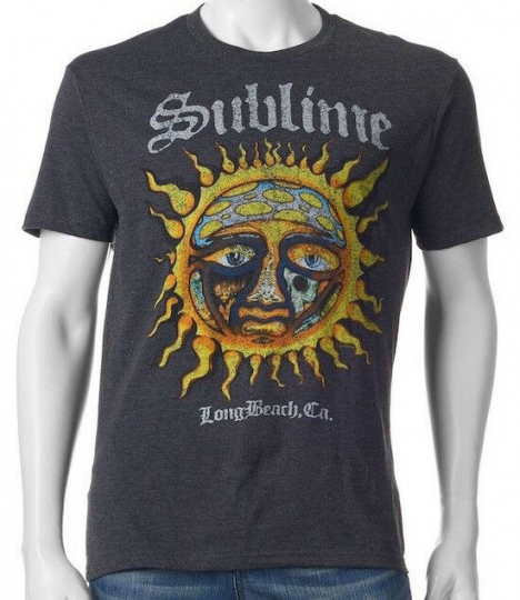 New Licensed Sublime Band 40 oz to Freedom Sun Vintage Style Tee Shirt S-2XL