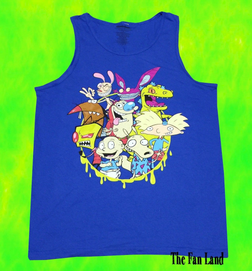 New Nickelodeon Squad Cast Mens Vintage Tank Top T-Shirt