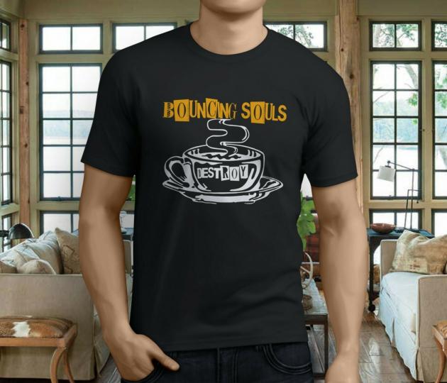 New Popular BOUNCING SOULS Band Destroy Men's Black T-Shirt Size S-3XL