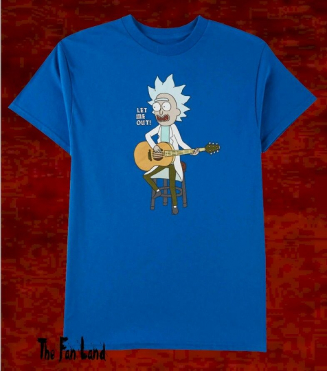 New Rick and Morty Let Me Out Guitar Cartoon Network Mens Mens T-Shirt