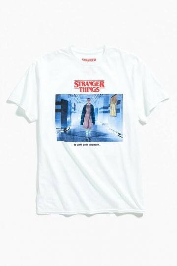 New Stranger Things Men's Eleven It Only Gets Stranger White T-Shirt Size Small