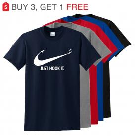 Nike Slogan t-shirt,Just Hook It ADULT funny T-shirt,Meme Swoosh Sports Men's