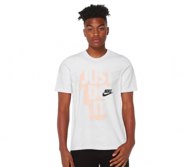 Nike Sportswear Satin Hook Graphic T-Shirt White CJ6985 Men's NWT