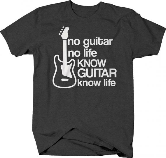 No guitar no life know guitar know life music instrument band T-shirt
