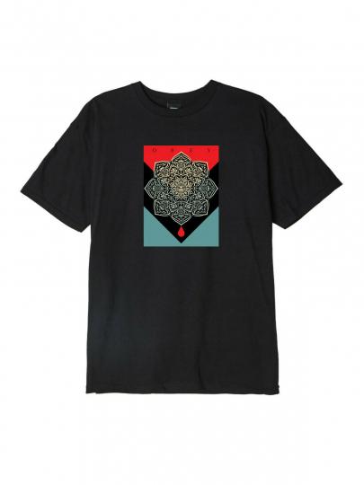OBEY Men's S/S T-Shirt BLOOD & OIL - BLK - Medium - NWT