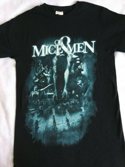 OF MICE & MEN Band - Black T-Shirt Adult Size Small