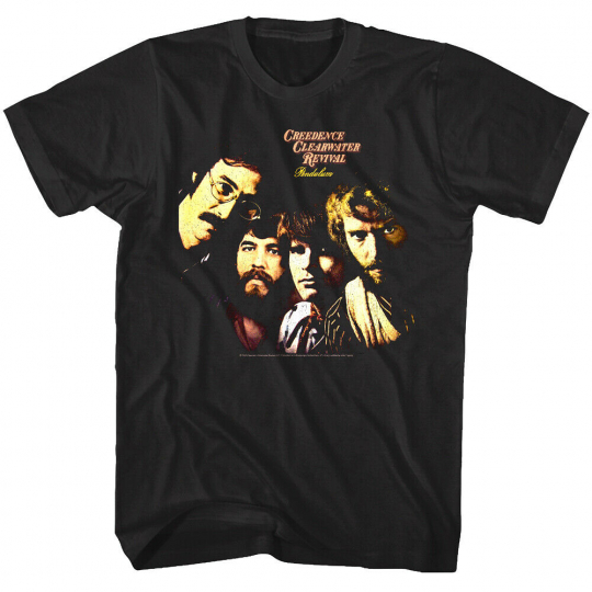 OFFICIAL Creedence Clearwater Revival Pendulum Album Men's T Shirt CCR Rock Band