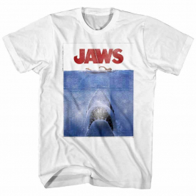 OFFICIAL Jaws Shark Vintage Movie Poster Men's T Shirt Bite Attack