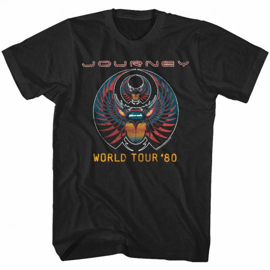 OFFICIAL Journey Captured Album World Tour 1980 Men's T Shirt Rock Band