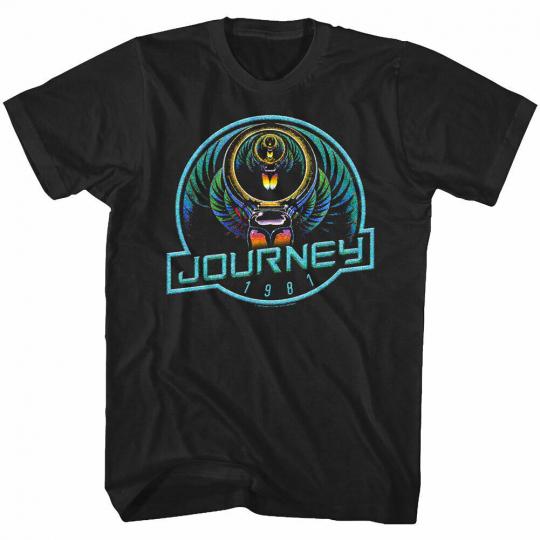 OFFICIAL Journey Neon Scarab 1981 Men's T Shirt Rock Band Concert