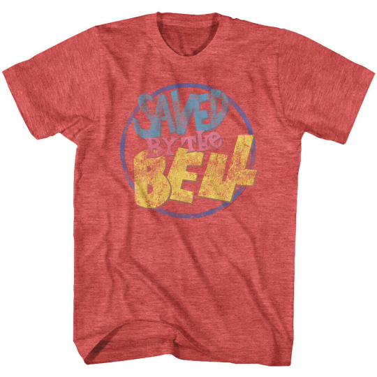OFFICIAL Saved by the Bell TV Show Vintage Logo Men's T-Shirt