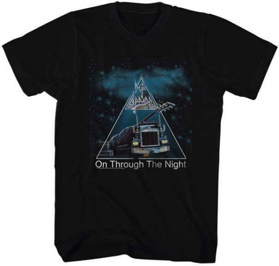 ON THROUGH THE NIGHT Def Leppard English Rock Band Heavy Metal Hard Rock T-Shirt