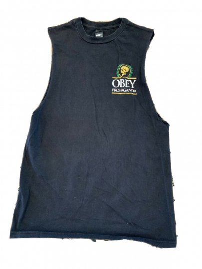 Obey Propaganda MF Tank Top Shirt S Small Vintage Streetwear Shepard Fairey Tee