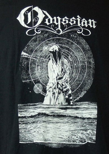 Odyssian - Seattle Metal Colab Band -  Robed Celestial Figure Black T-Shirt XL
