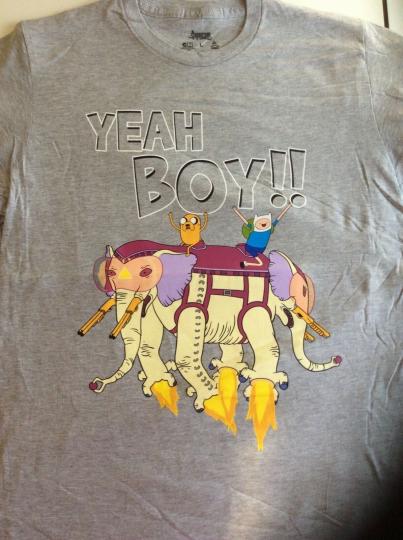Official Cartoon Network Adventure Time Finn and Jake T-shirt Yeah Boy!! SZ L