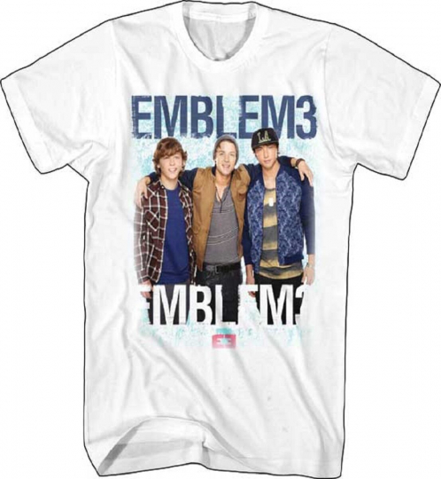 Official Emblem3 Group Photo Adult T Shirt - Reggae Pop Band Music Wesley Drew T