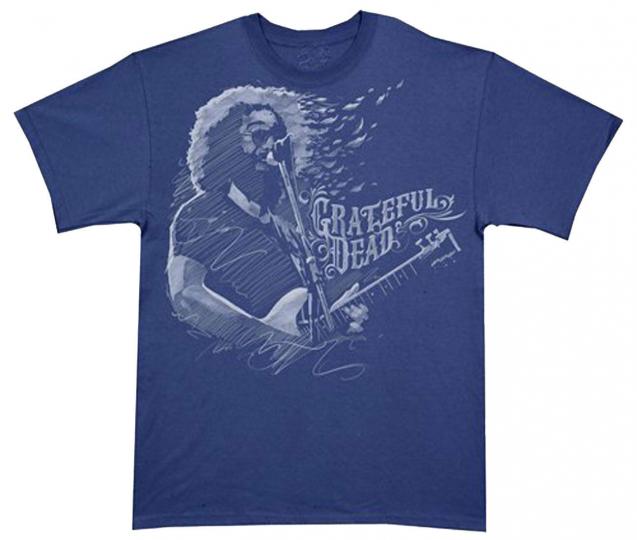 Official Grateful Dead Jerry Garcia - Blown Away Adult T-Shirt - Rock Band Tee