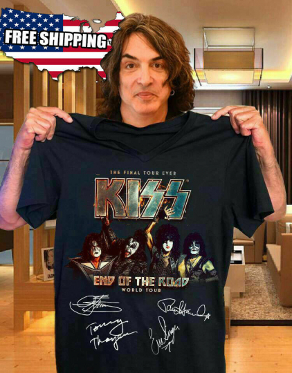 Official KISS Band T-Shirt End of the Road Farewell Tour 2019 Gift for Men/Women