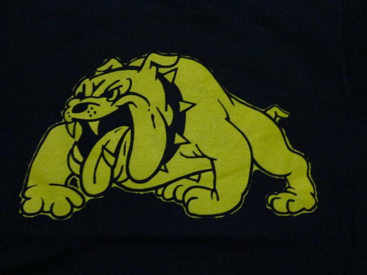 Olmsted Falls HIGH SCHOOL BAND Bulldog MASCOT T-Shirt FREE Shipping size Small