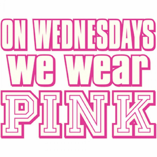 On Wednesdays We Wear Pink Movie Quote Women's T-shirt All Sizes (968)