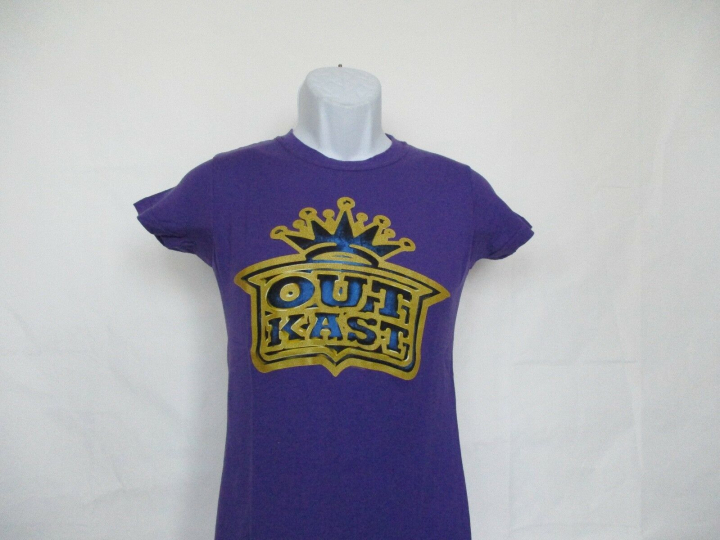 Outkast Gold Crown Logo T-Shirt - Purple Junior Sizes Small - X-Large NEW