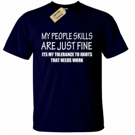 PEOPLE SKILLS Funny Mens T-Shirt sarcastic gift sarcasm humour joke tee