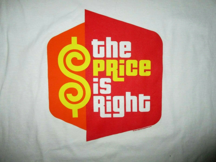 PRICE IS RIGHT T-SHIRT Logo Television Game Show Contestant Adult XL