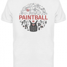 Paintball Round Logo Tee Men's -Image by Shutterstock