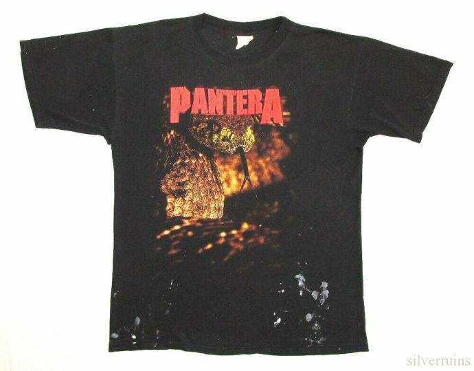 Pantera Vintage T Shirt 90's 1996 Trendkill Tour Concert Lp Distressed Snake