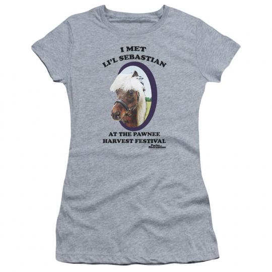 Parks & Recreation TV Show I MET LI'L SEBASTIAN Juniors Cap Sleeve T-Shirt