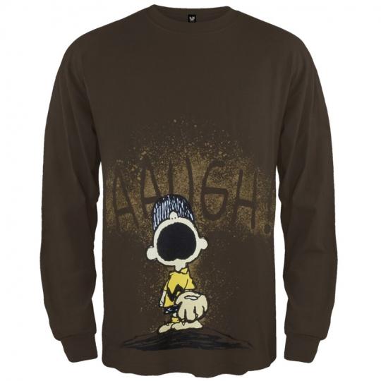 Peanuts - Augh Band Adult Mens Long Sleeve Shirt