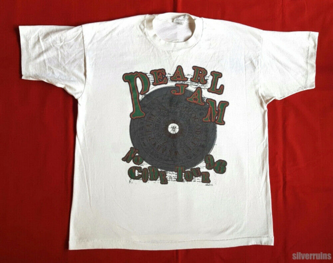 Pearl Jam Vintage T Shirt 90's 1990's Concert Tour No Code Seattle Grunge Band