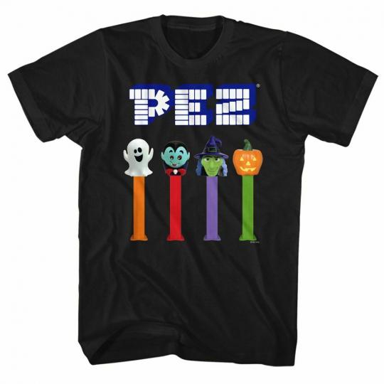 Pez Halloween Black Adult T-Shirt