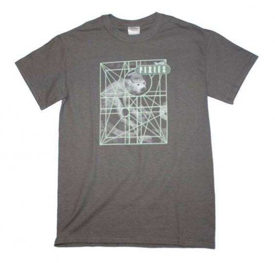 Pixies Monkey Grid Alt Rock Music Band Men's Gray Cotton T-Shirt