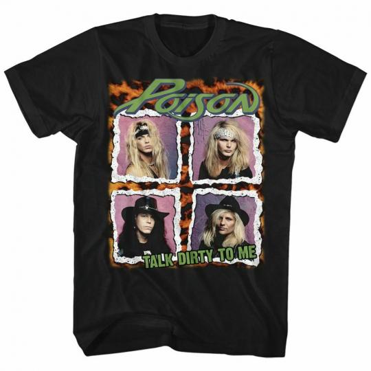 Poison Squares Black Adult T-Shirt