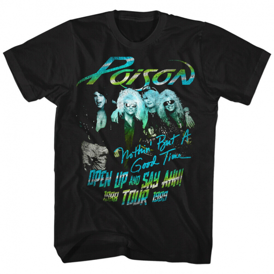 Poison Tour 1988 Nothin But A Good Time Talk Dirty Rock Adult T-Shirt