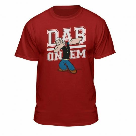 Popeye DAB On 'Em Men's Graphic Red T-Shirt