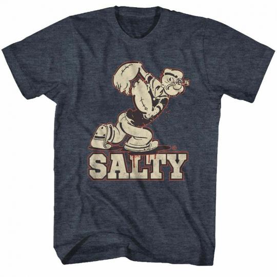 Popeye Salty Navy Heather T-Shirt