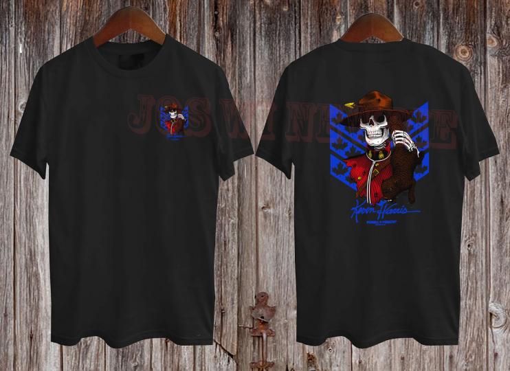 Powell Peralta Kevin Harris T-shirt men's Black T-Shirt Mens