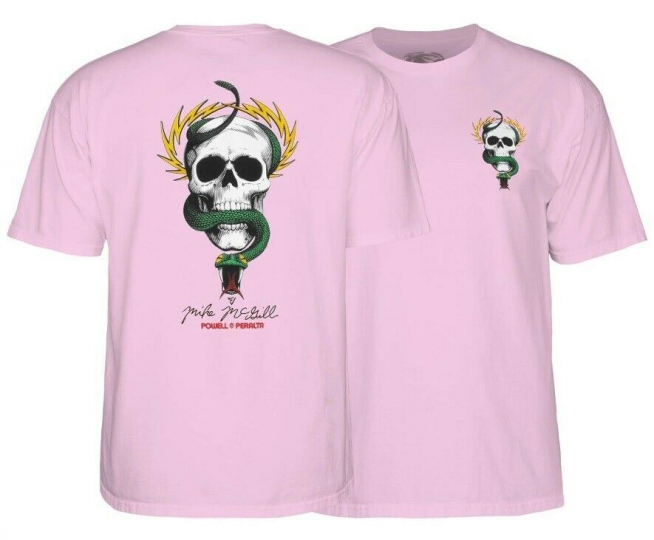 Powell Peralta Mcgill Skull & Snake T-Shirt Extra Large Pink
