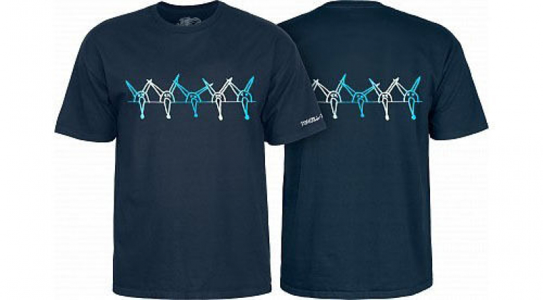 Powell Peralta Old School Vato Rat Band Bones Reissue T-Shirt Navy
