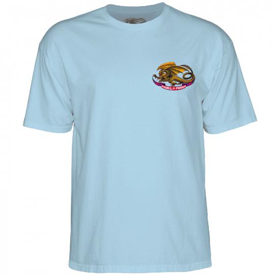 Powell-Peralta Oval Dragon (Powder Blue) T-Shirt