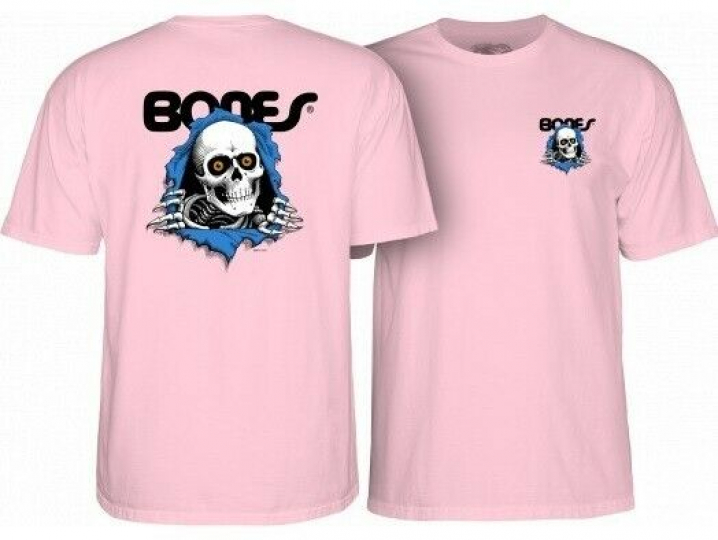 Powell Peralta Ripper Pink T-Shirt Youth Large