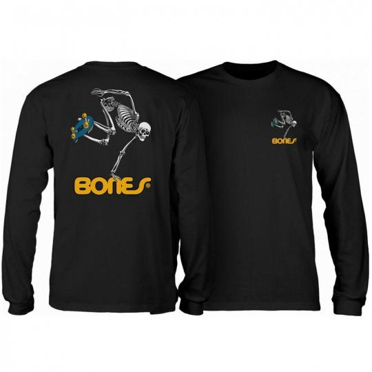 Powell Peralta Skateboard Long Sleeve Shirt Skateboard Skeleton Black