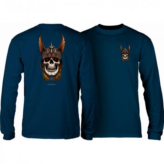 Powell Peralta Skateboard Longsleeve Shirt Andy Anderson Skull Navy