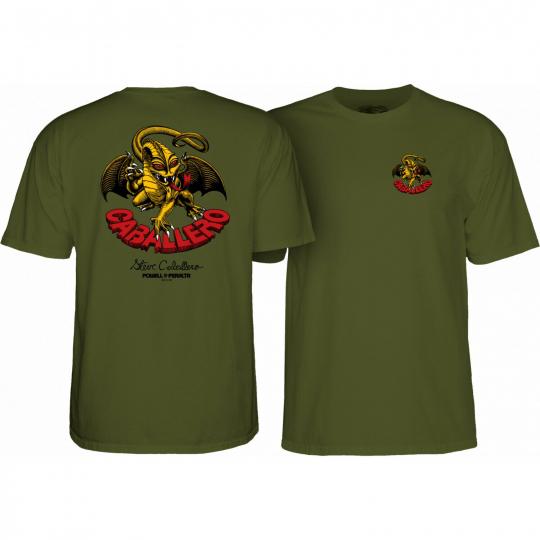 Powell Peralta Skateboard Shirt Cab Dragon II Military Green