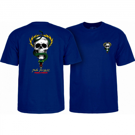 Powell Peralta Skateboard Shirt McGill Skull & Snake Royal Blue