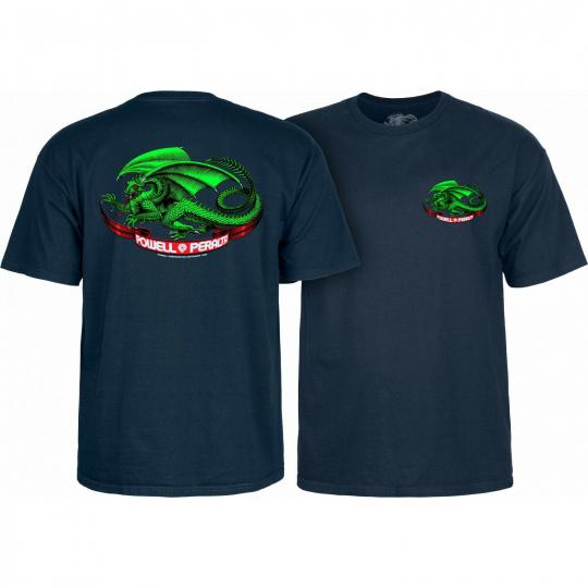 Powell Peralta Skateboard Shirt Oval Dragon Navy
