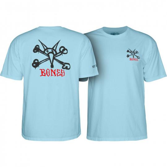 Powell Peralta Skateboard Shirt Rat Bones Powder Blue